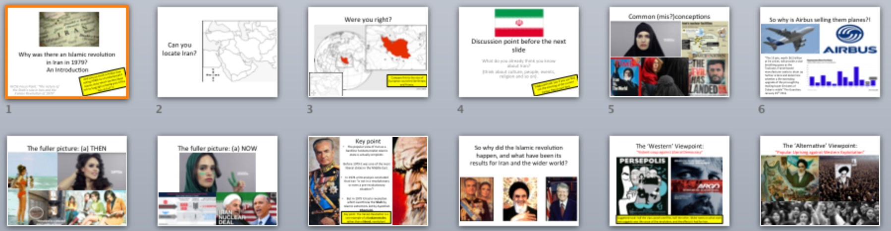 Iranian revolution term papers