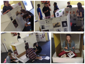 Year 10 Historians designing an exhibition about the Weimar Republic