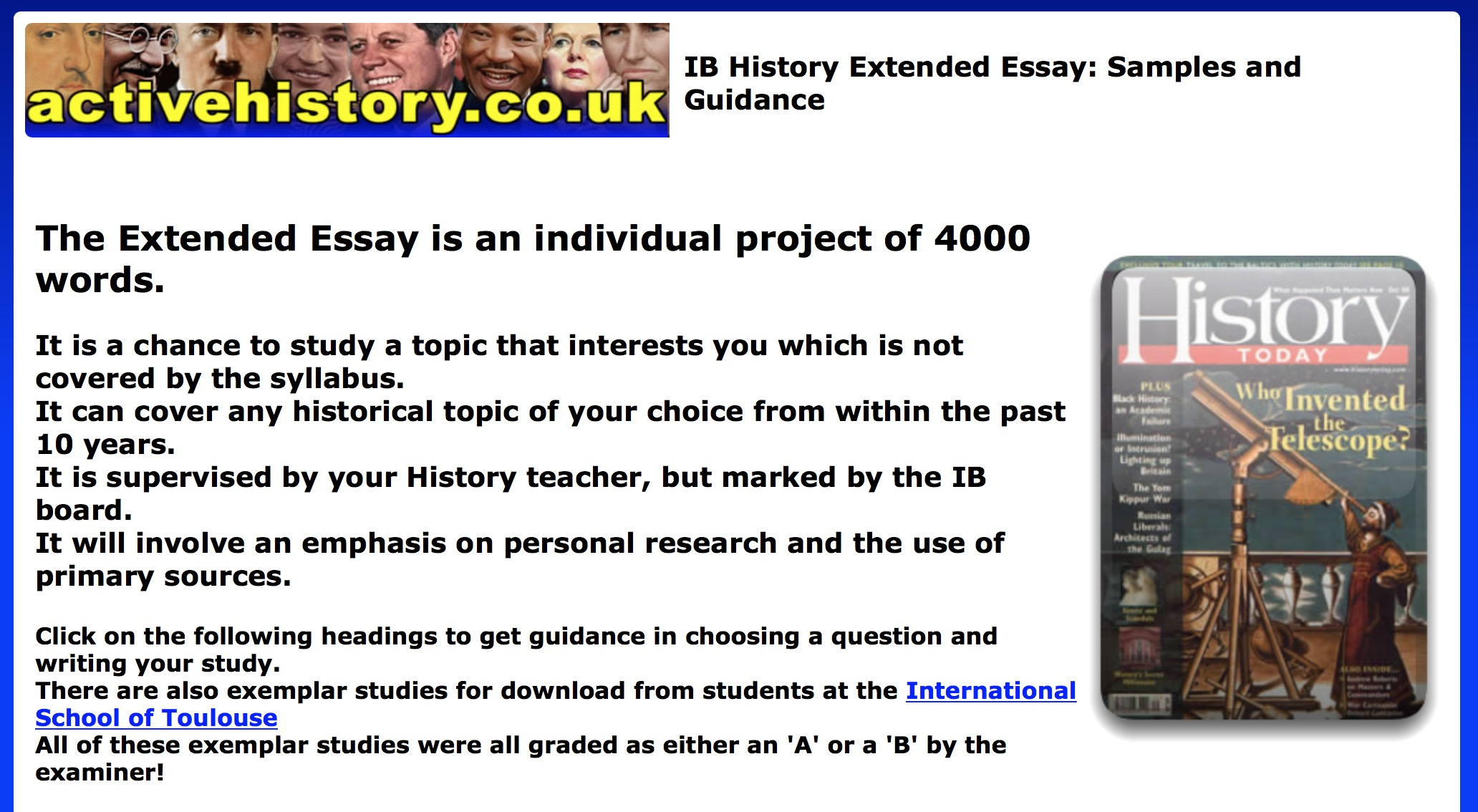 52 views - History Extended Essay Example
